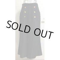 シャネル(CHANEL) ヴィンテージマークボタンロングスカート